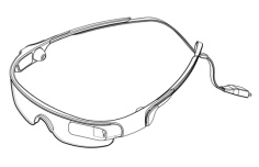 Samsung Glass - side view