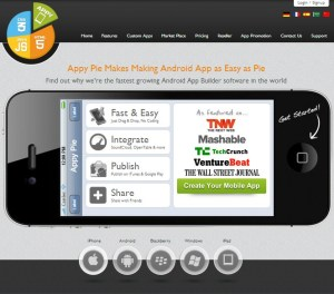 Appy Pie - platform for building free android apps